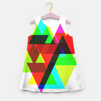 Thumbnail image of Geometric Angular Modern Abstract Patterned Girl's Summer Dress, Live Heroes