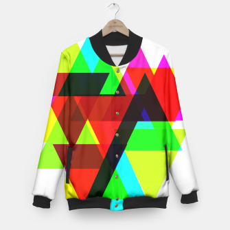 Thumbnail image of Geometric Angular Modern Abstract Patterned Baseball Jacket, Live Heroes