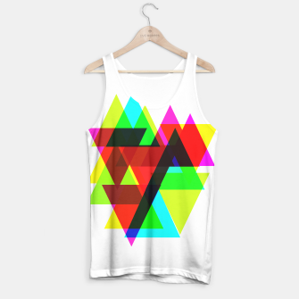 Thumbnail image of Geometric Angular Modern Abstract Patterned Tank Top, Live Heroes