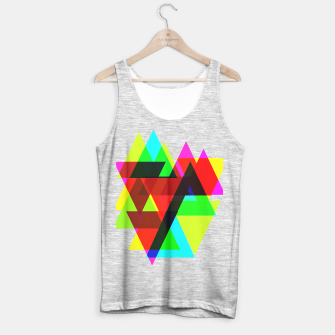 Thumbnail image of Geometric Angular Modern Abstract Patterned Tank Top regular, Live Heroes
