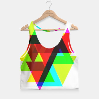 Thumbnail image of Geometric Angular Modern Abstract Patterned Crop Top, Live Heroes