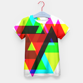 Thumbnail image of Geometric Angular Modern Abstract Patterned Kid's T-shirt, Live Heroes