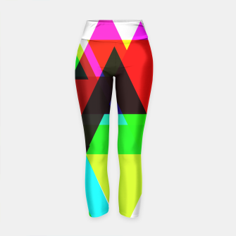 Thumbnail image of Geometric Angular Modern Abstract Patterned Yoga Pants, Live Heroes