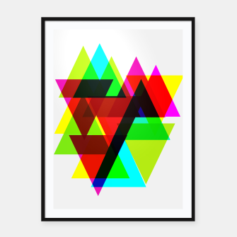 Thumbnail image of Geometric Angular Modern Abstract Patterned Framed poster, Live Heroes