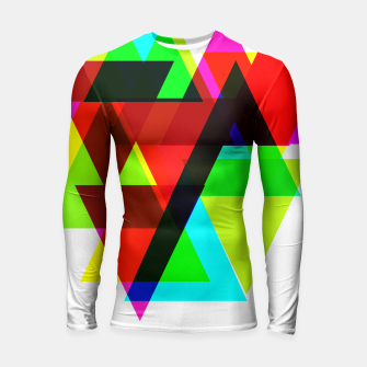 Thumbnail image of Geometric Angular Modern Abstract Patterned Longsleeve Rashguard , Live Heroes