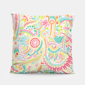 Thumbnail image of zz0101 Whimsical Pink Hippie Flower pattern Pillow, Live Heroes