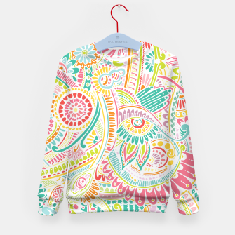 Thumbnail image of zz0101 Whimsical Pink Hippie Flower pattern Kid's Sweater, Live Heroes