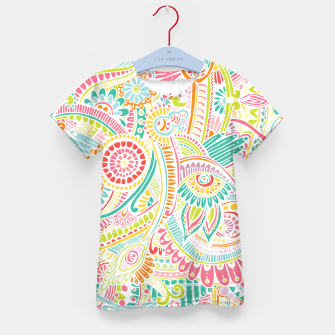 Thumbnail image of zz0101 Whimsical Pink Hippie Flower pattern Kid's T-shirt, Live Heroes