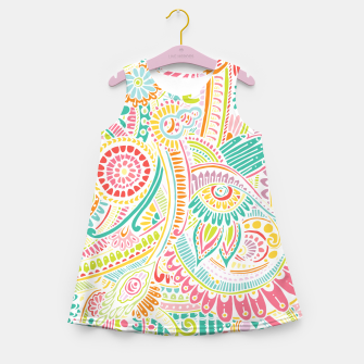 Thumbnail image of zz0101 Whimsical Pink Hippie Flower pattern Girl's Summer Dress, Live Heroes