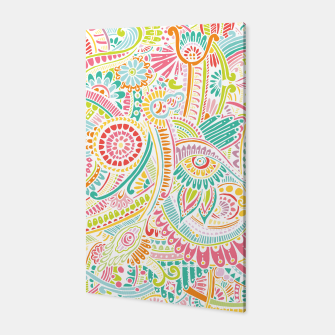 Thumbnail image of zz0101 Whimsical Pink Hippie Flower pattern Canvas, Live Heroes
