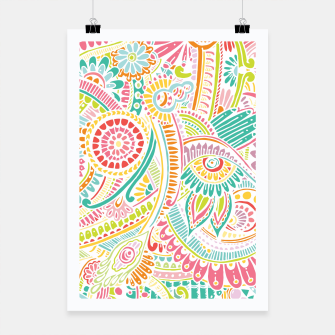 Thumbnail image of zz0101 Whimsical Pink Hippie Flower pattern Poster, Live Heroes