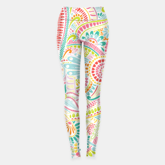 Thumbnail image of zz0101 Whimsical Pink Hippie Flower pattern Leggings, Live Heroes