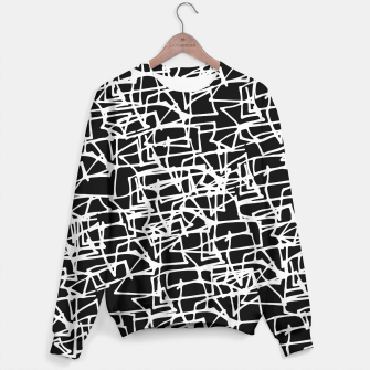 Miniaturka White Scribbles On Black Sweater, Live Heroes