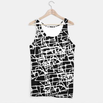 Miniaturka White Scribbles On Black Tank Top, Live Heroes