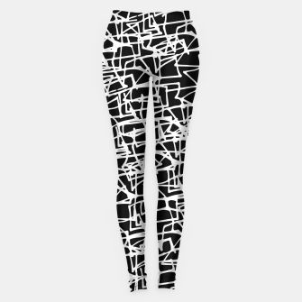 Miniaturka White Scribbles On Black Leggings, Live Heroes