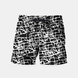 Miniaturka White Scribbles On Black Swim Shorts, Live Heroes