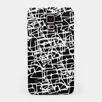 Miniaturka White Scribbles On Black Samsung Case, Live Heroes