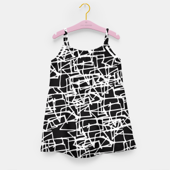 Miniaturka White Scribbles On Black Girl's Dress, Live Heroes