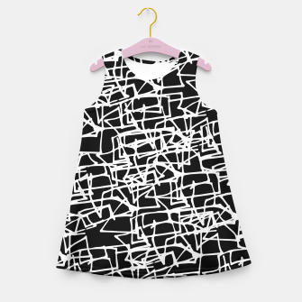 Miniaturka White Scribbles On Black Girl's Summer Dress, Live Heroes