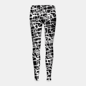 Miniaturka White Scribbles On Black Girl's Leggings, Live Heroes
