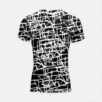 Miniaturka White Scribbles On Black Shortsleeve Rashguard, Live Heroes