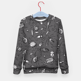 Thumbnail image of Beetles & Spiders Kid's Sweater, Live Heroes