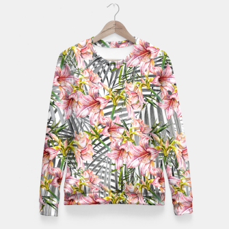 Thumbnail image of Flowered exotic Sudadera entallada, Live Heroes