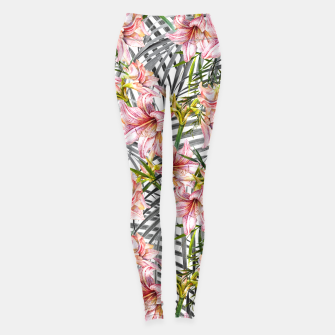Miniaturka Flowered exotic Leggings, Live Heroes