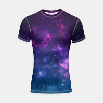 Thumbnail image of Space Land Shortsleeve Rashguard, Live Heroes