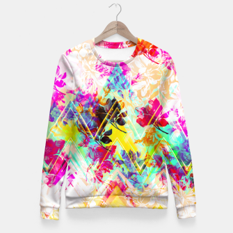 Miniaturka Spring Floral with geometric Sudadera entallada, Live Heroes