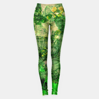 Miniatur Jungle green attitude Leggings, Live Heroes
