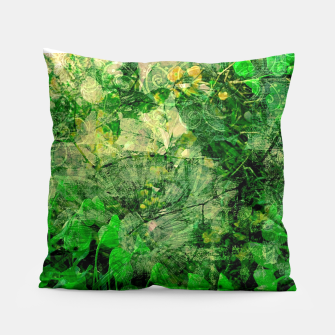 Miniatur Jungle green attitude Coussin, Live Heroes