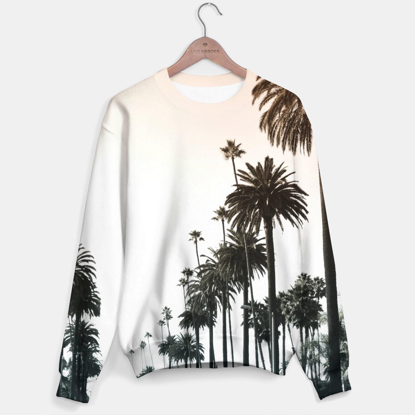 Image of Los Angeles Palm Trees Sweater - Live Heroes