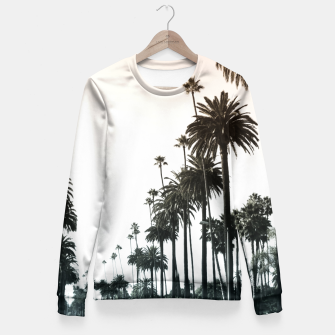 Thumbnail image of Los Angeles Palm Trees Fitted Waist Sweater, Live Heroes