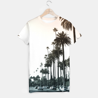 Thumbnail image of Los Angeles Palm Trees T-shirt, Live Heroes