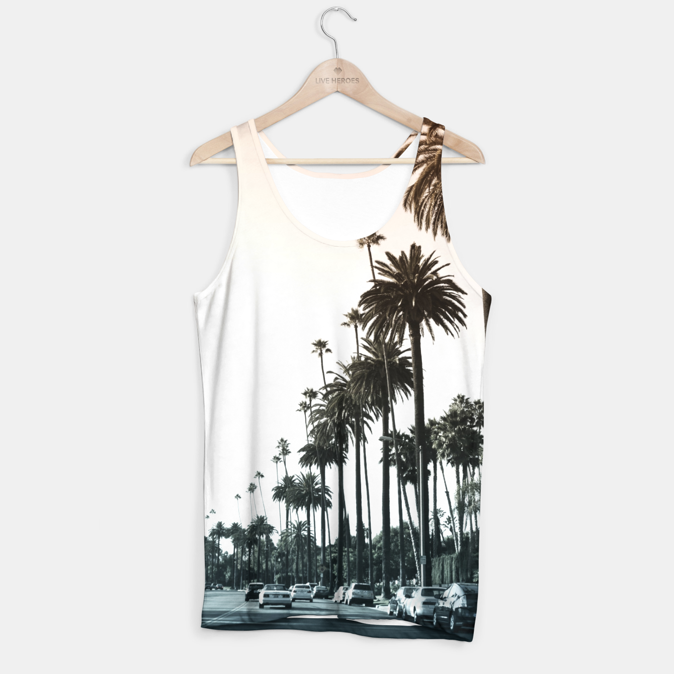 Image of Los Angeles Palm Trees Tank Top - Live Heroes