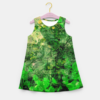 Miniatur Jungle green attitude Robe de fille d'été, Live Heroes