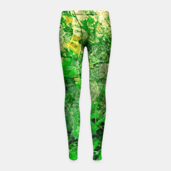 Miniatur Jungle green attitude Leggings de fille, Live Heroes