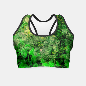 Miniatur Jungle green attitude Crop Top, Live Heroes