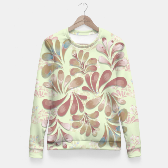 Miniatur Pastel Floral Dance Fitted Waist Sweater, Live Heroes