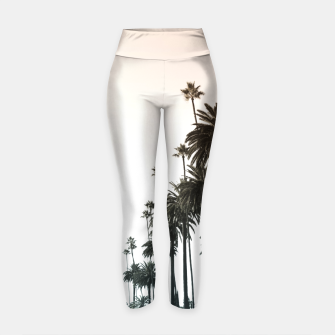 Thumbnail image of Los Angeles Palm Trees Yoga Pants, Live Heroes
