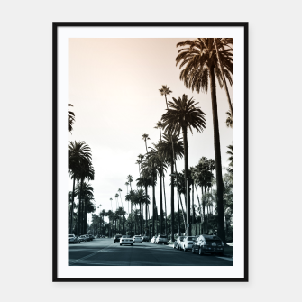 Thumbnail image of Los Angeles Palm Trees Framed poster, Live Heroes
