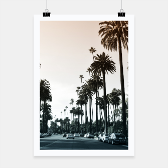 Thumbnail image of Los Angeles Palm Trees Poster, Live Heroes
