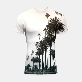 Thumbnail image of Los Angeles Palm Trees Shortsleeve Rashguard, Live Heroes