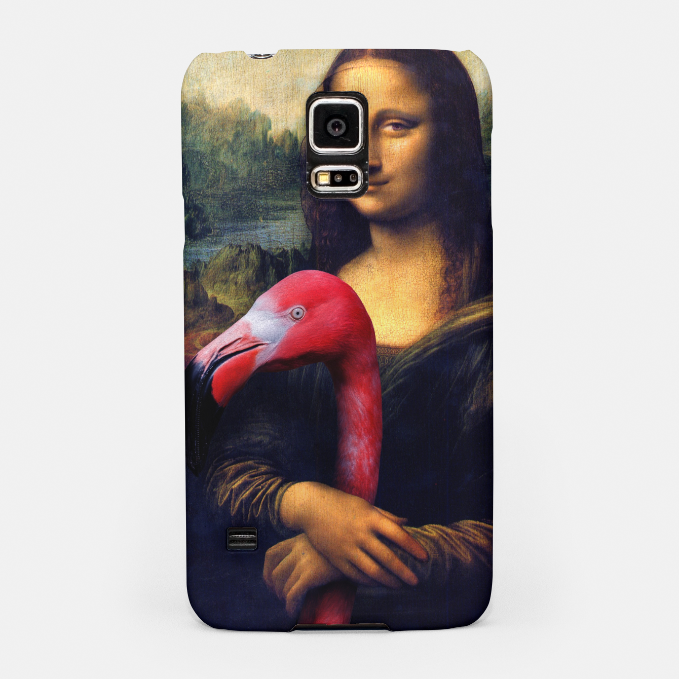 Image of Mona Lisa and Her Flamingo Samsung Case - Live Heroes