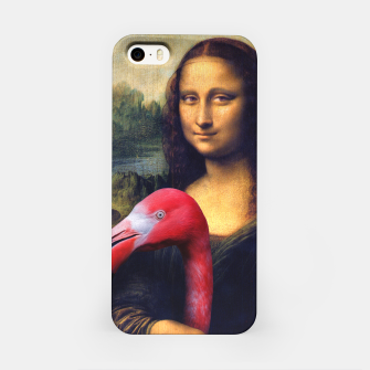 Mona Lisa and Her Flamingo iPhone Case thumbnail image