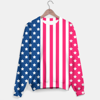 Thumbnail image of Abstract Patriotic pattern design Sweater, Live Heroes