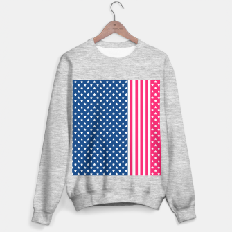 Thumbnail image of Abstract Patriotic pattern design Sweater regular, Live Heroes