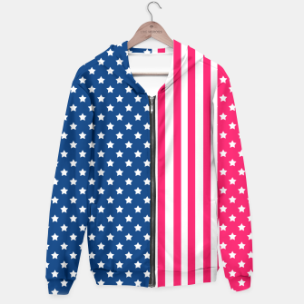 Thumbnail image of Abstract Patriotic pattern design Hoodie, Live Heroes
