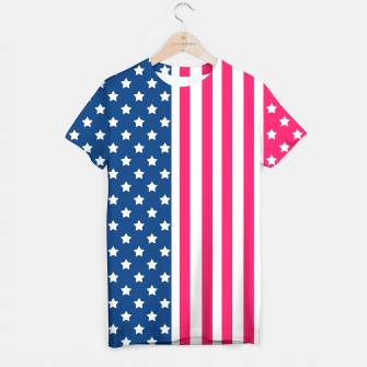 Thumbnail image of Abstract Patriotic pattern design T-shirt, Live Heroes